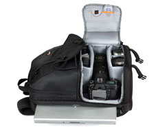Lowepro Fastback 250 - Open